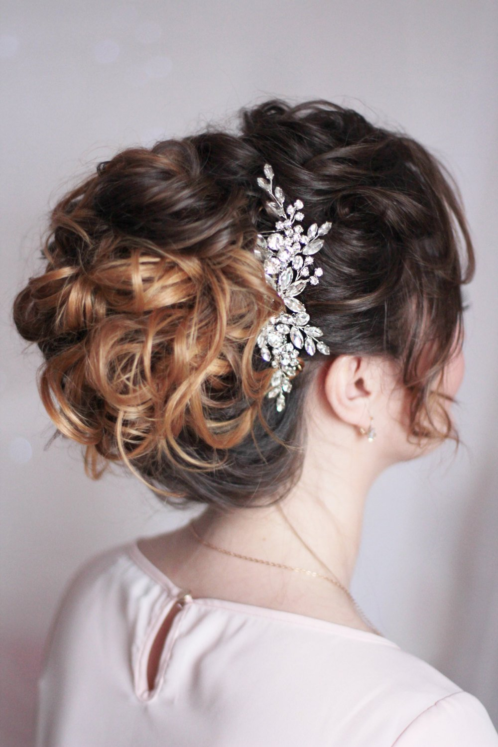 bridal hair comb with rhinestones and crystals in 2019