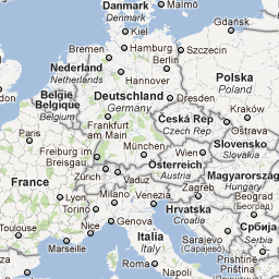 eurotrip trip planner has interactive map and links to rail etc