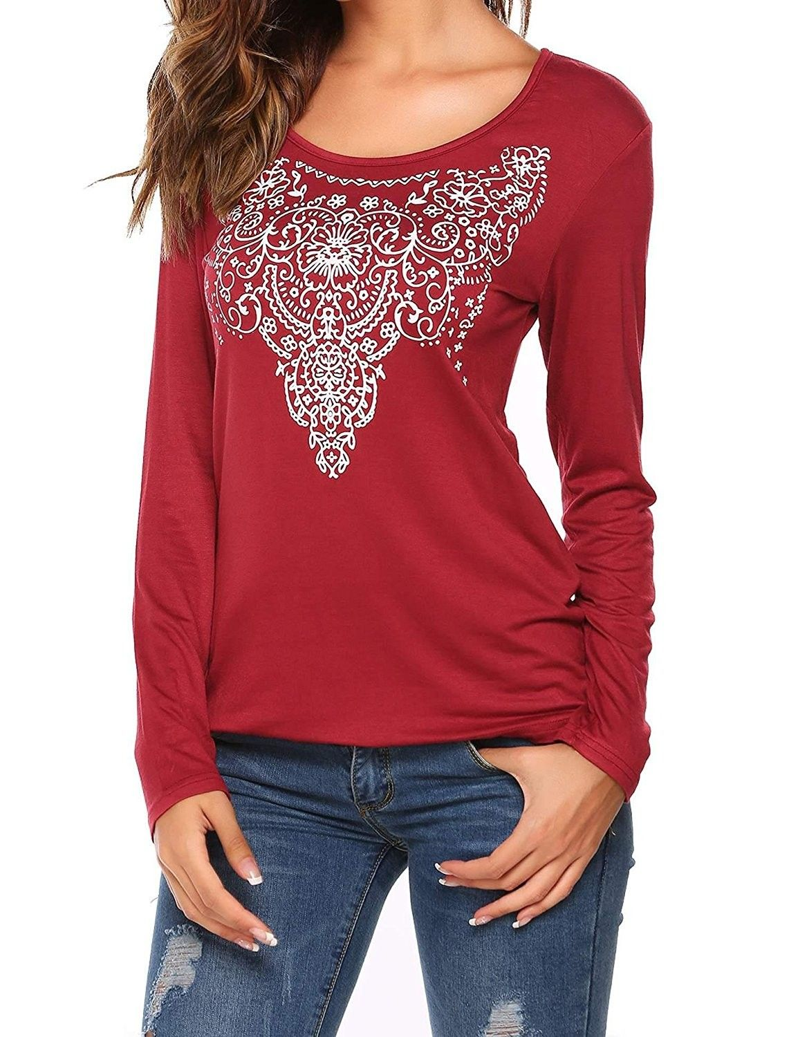 fd485055 Women's Clothing, Tops & Tees, Tanks & Camis, Women's Summer Sleeveless/Long  Sleeve Street Printed T Shirt Tank Tops Graphic Tees S-XXL - 009_wine Red  ...