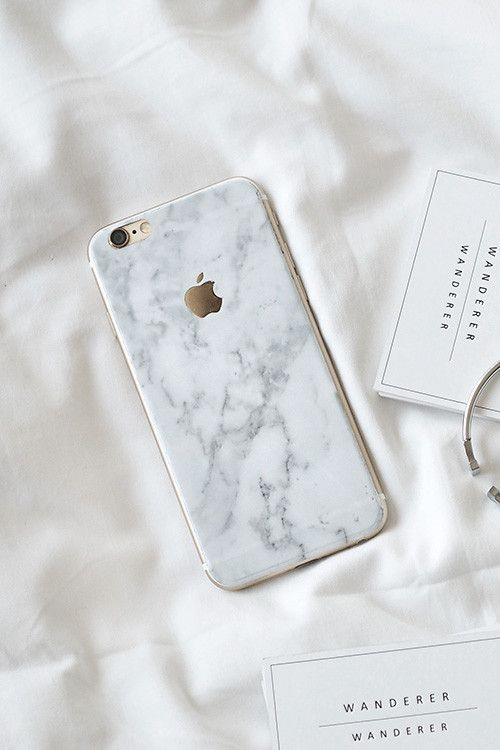 White Marble Skin Clear Case IPhone