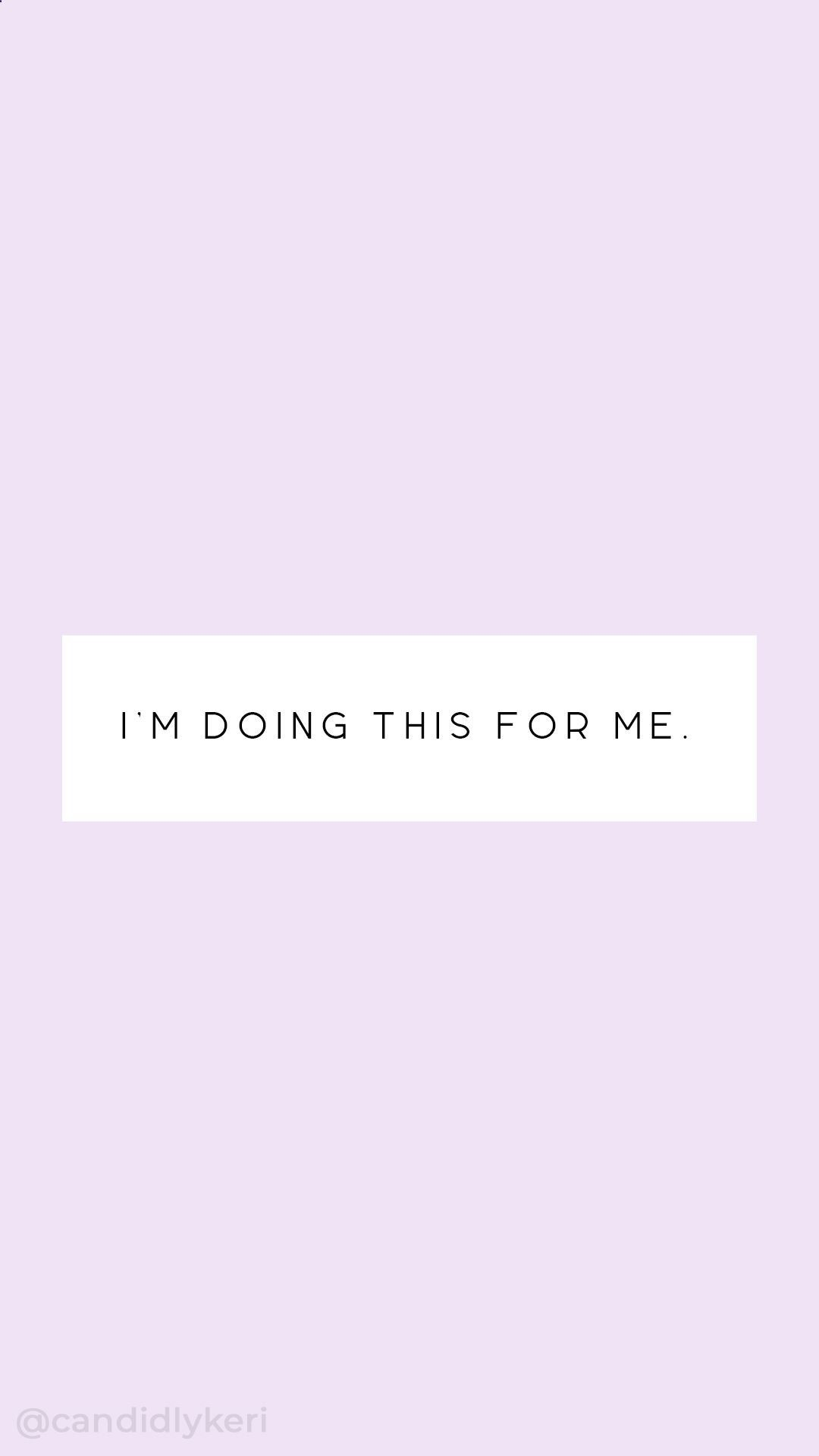 Im Doing This For Me Typography Inspirational Motivational Quote Background  Wallpaper You Can Download For Free