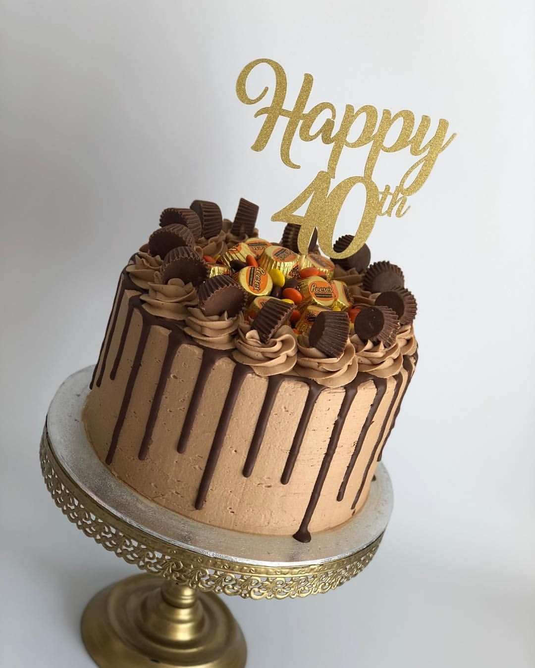 8 Inch Reeses Peanut Butter Chocolate Drip Cake Made For The