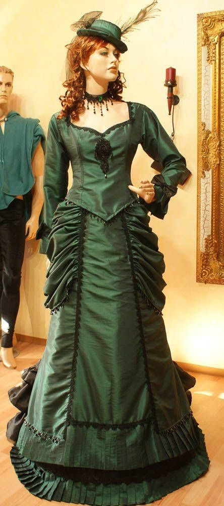 Bustle gown Victorian dress steampunk 19th century gown | Pinterest ...