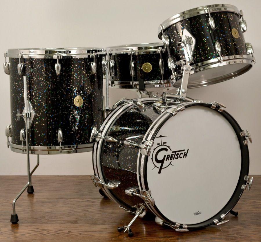 pin by donnie baird on random vintage drum pix gretsch drums drum kits rogers drums. Black Bedroom Furniture Sets. Home Design Ideas