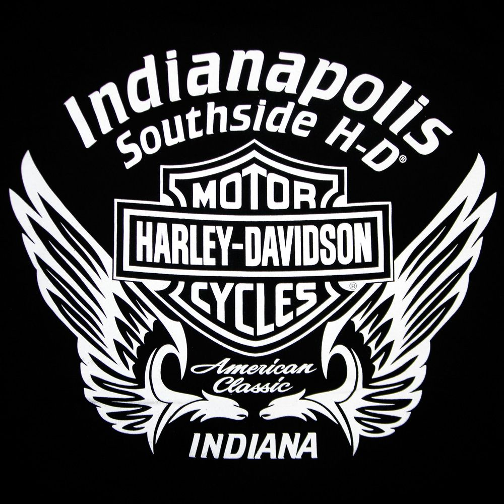 Current Indianapolis Southside Harley Davidson T-shirt back