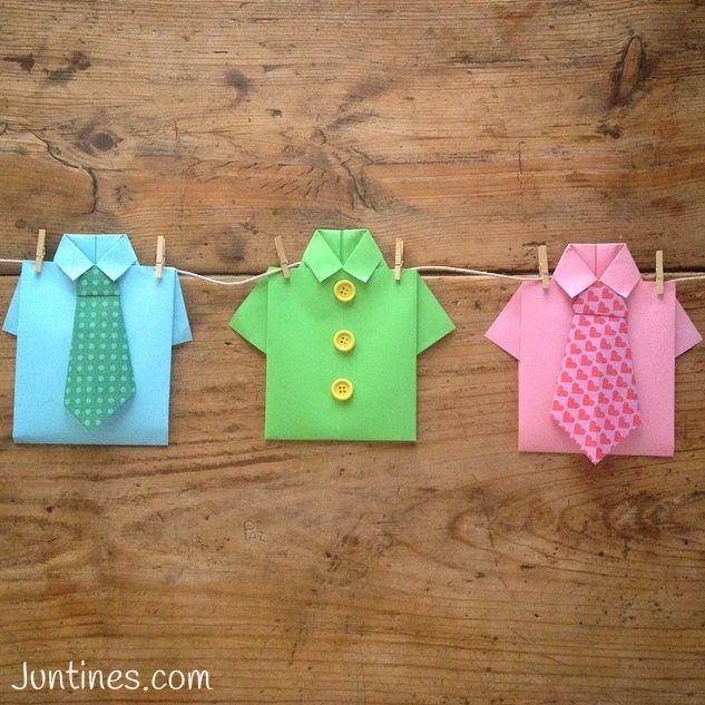 Camisa de origami - Origami shirt- Una ideas genial para el día ...