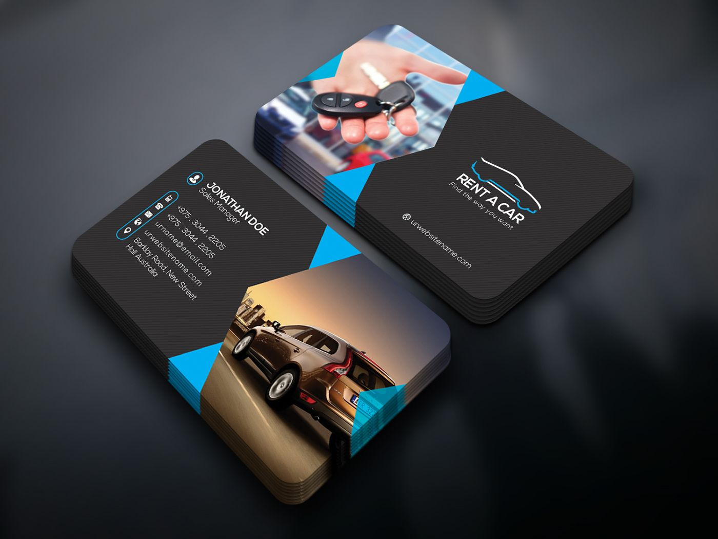 Free Business Card On Behance Psd