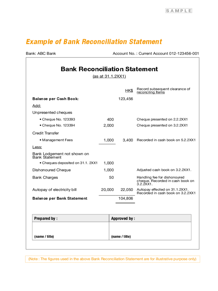 banking forms free templates pdf word excel download bank reconciliation statement form template