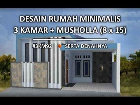 rumah minimalis 8,5 x 19 satu lantai 4 kamar tidur