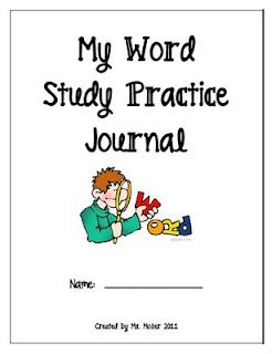 Words Their Way journal