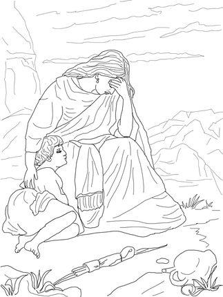 Click Hagar and Ishmael Coloring page for printable