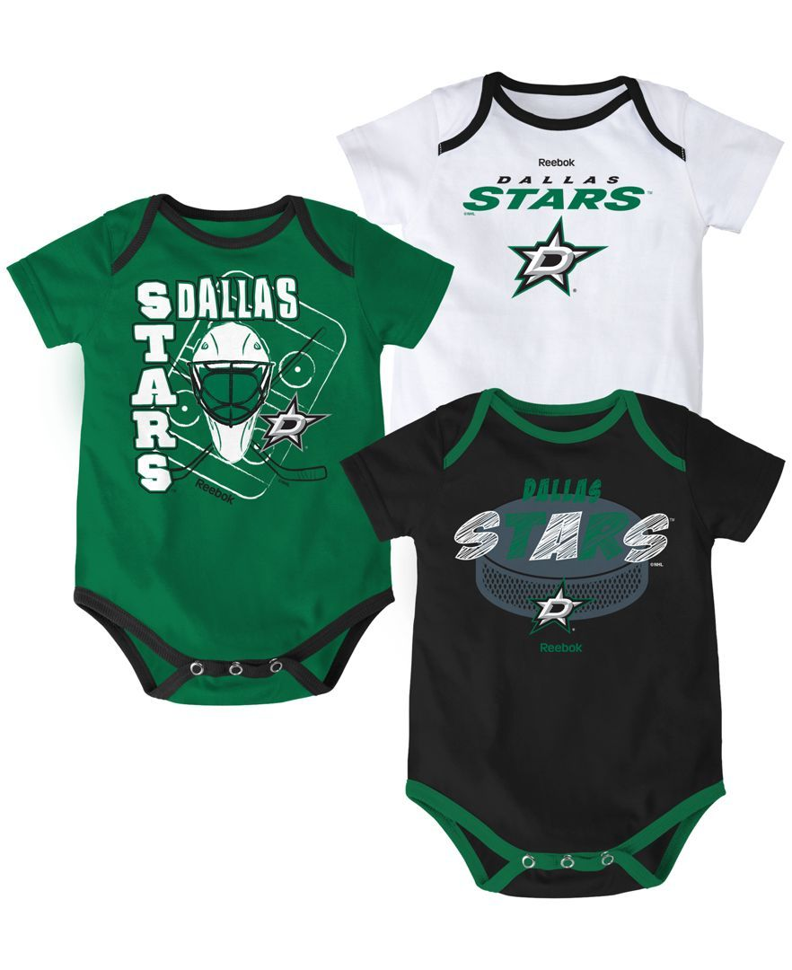 Reebok Babies' Dallas Stars 3-Pc. Spread Creeper Set