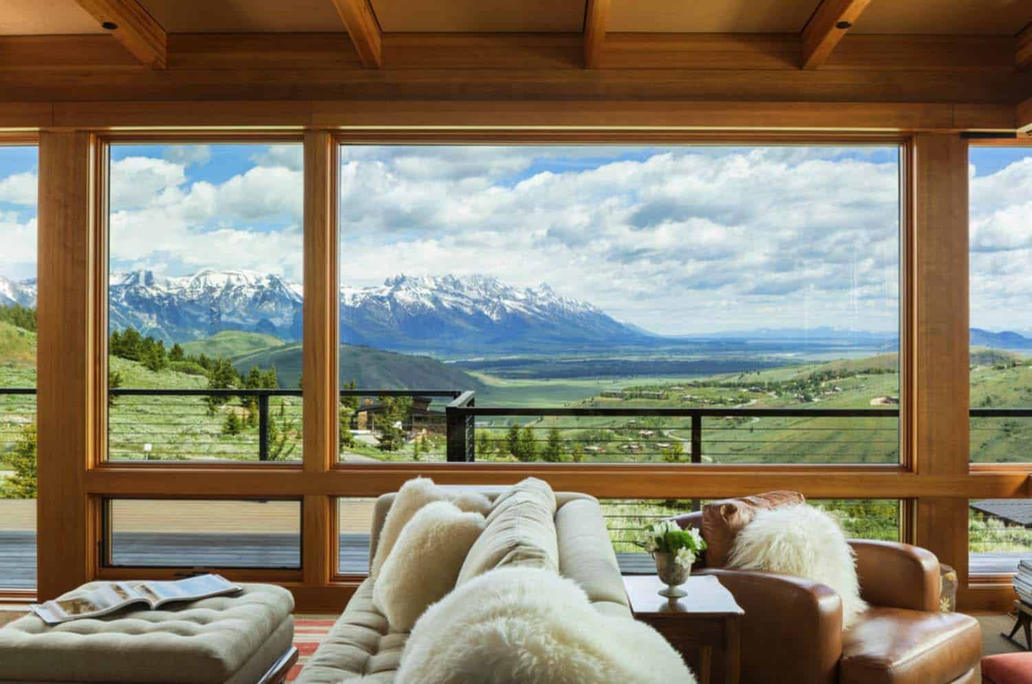 Photo of The trendy area on a hill gives a panoramic view of the Teton Mountains