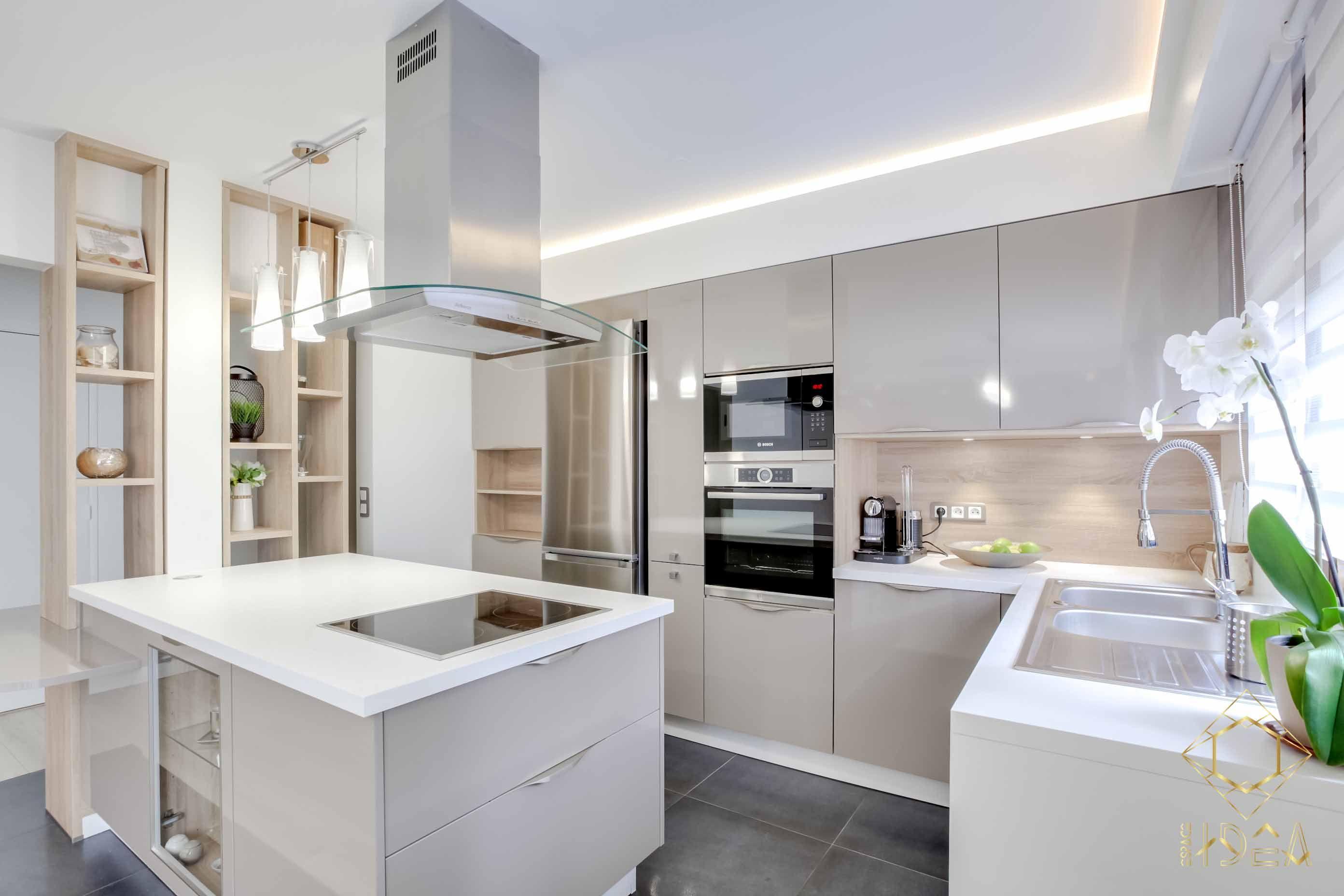 Appartement Aux Délimitations épurées By Espace IDEA Ambiance - Cuisine cocooning