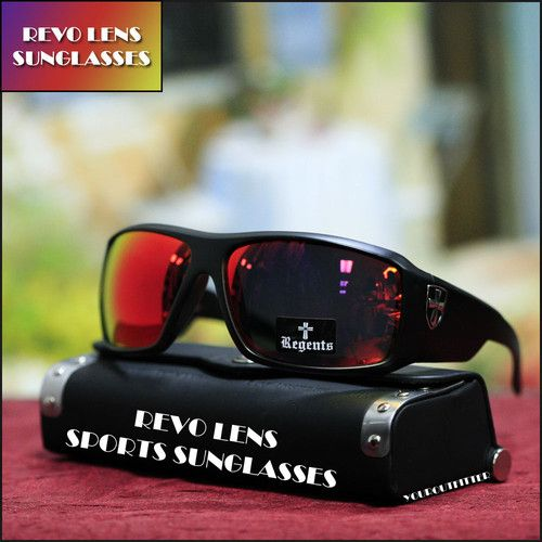 New Fashion Sport Sunglasses Multi Red Mix Mirror Shades Biker UV 400 Mens Black