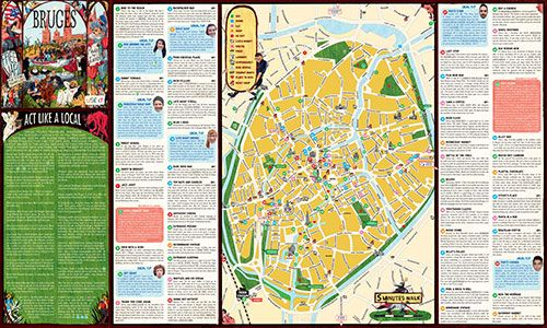 Bruges City Map and recommendations studyabroad explore europe