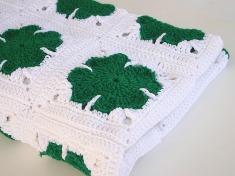 St Patricks crochet Patterns | Shamrock afghan crochet PDF Pattern ...