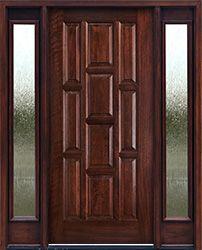 10 Panels Mahogany Exterior Doors Rain Glass Sidelights Mahogany Exterior Doors Mahogany Entry Doors Exterior Doors With Sidelights