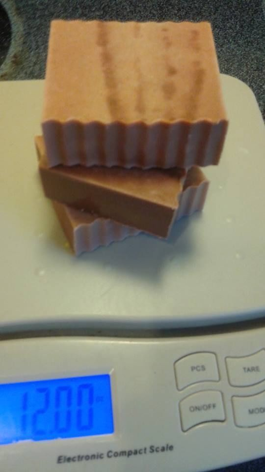 Saffron and cedarwood hemp butter and oatmeal 4 oz USDA handmade soap slice