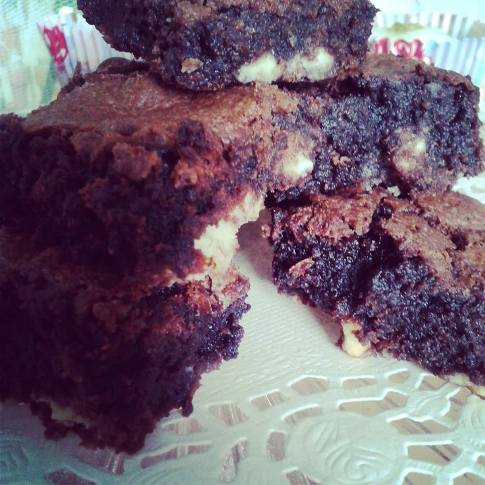 Baileys and white chocolate brownies