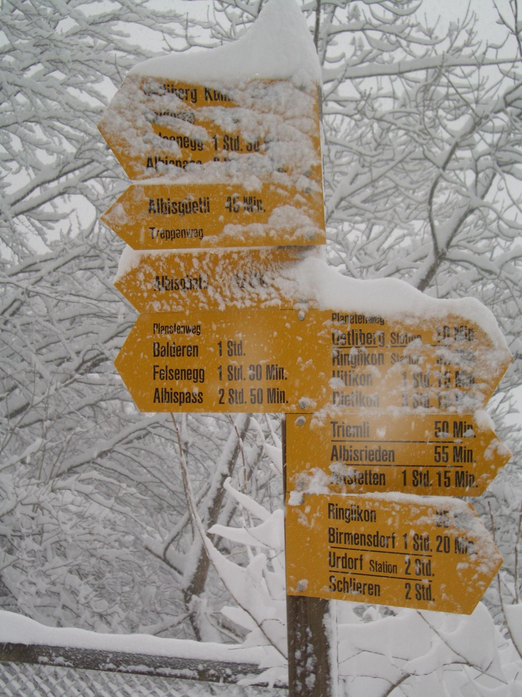 Schneewandern auf dem Üetliberg