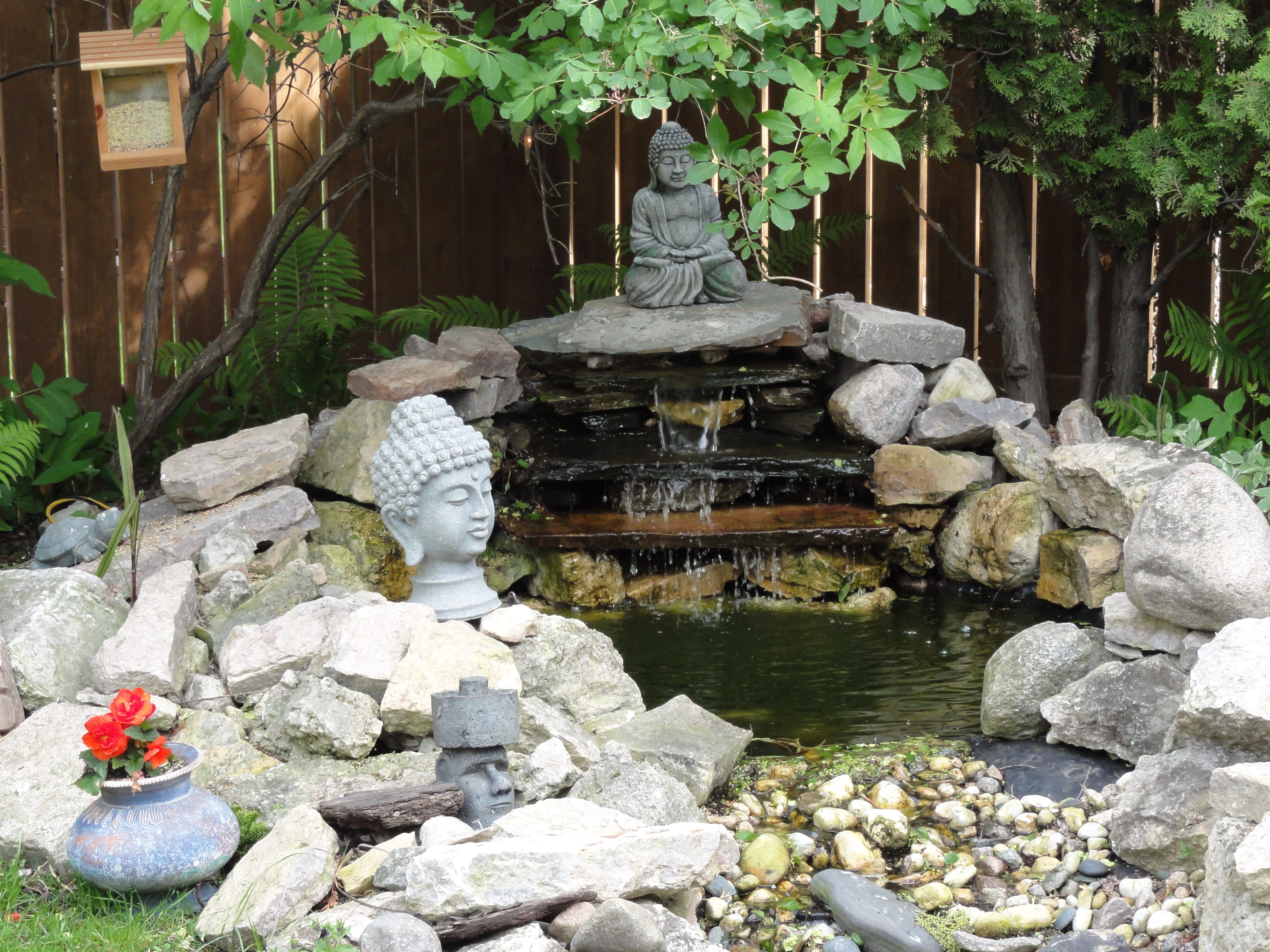 how to build a waterfall meditation pond for your backyard