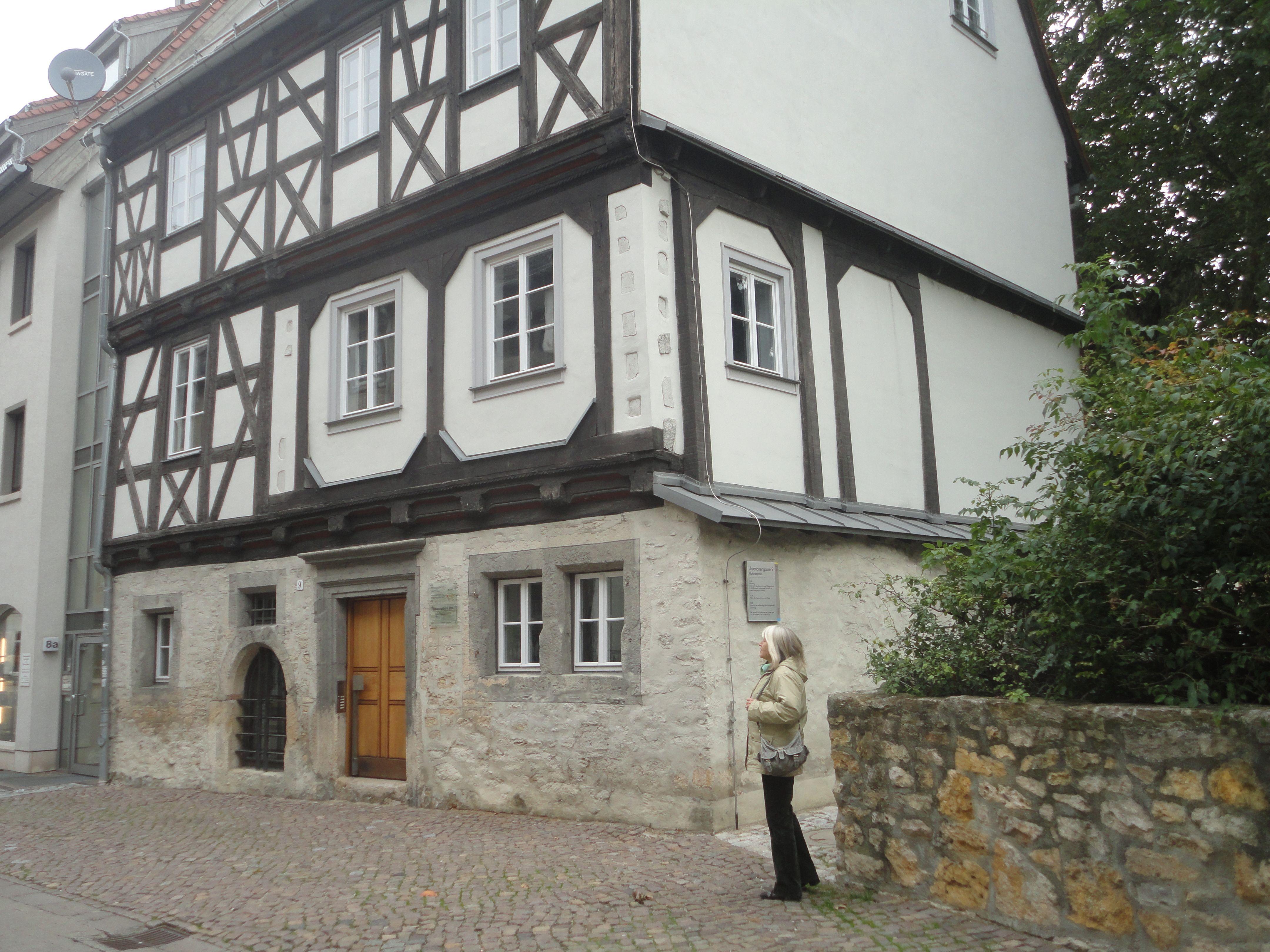 JENA PLATANENHAUS von 1606 restauriert Thüringen, Jena