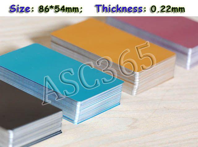 100 Stucke Leere Visitenkarte Sublimation Metall Verwenden Tinte Und Papier Funf Farben Druck