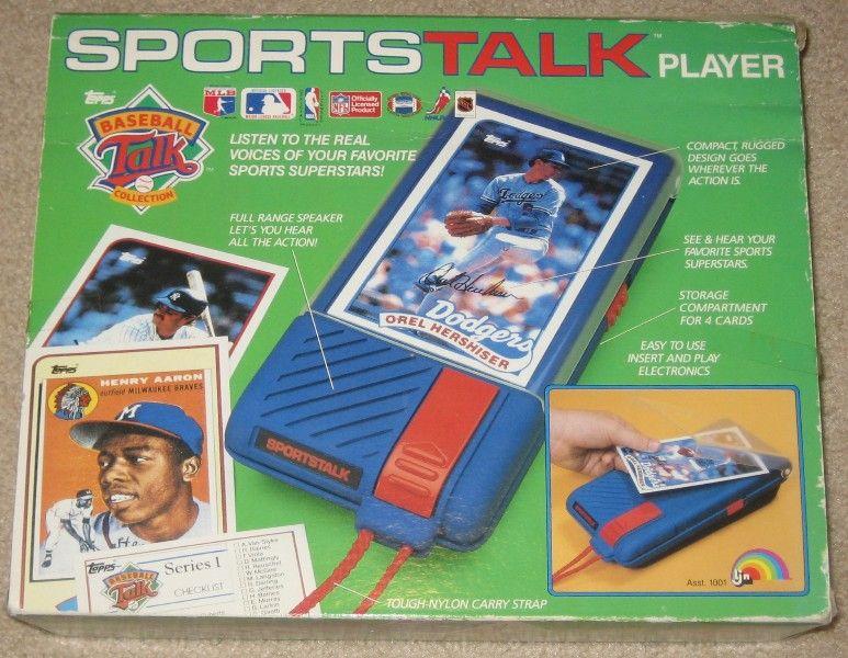 Sports Talk Baseball talking baseball cards. This toy didn