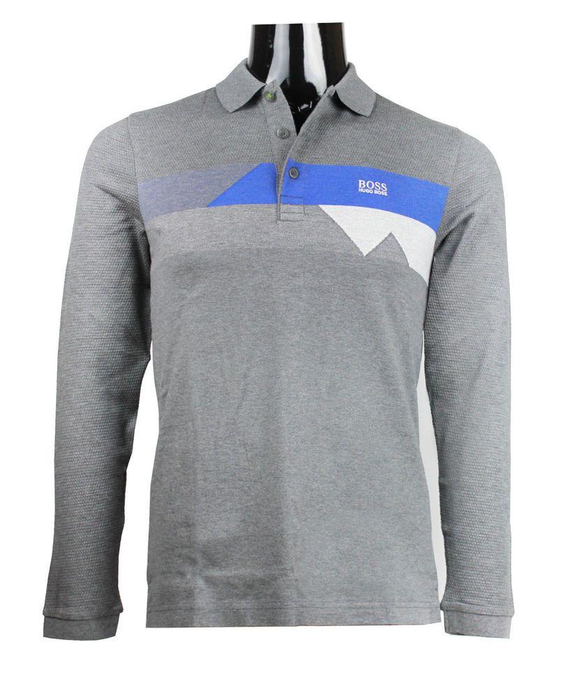 HUGO BOSS Men's Pleesy 1 Coloblocked Cotton Polo Shirt Slim Fit s m l xl  2xl 3xl #