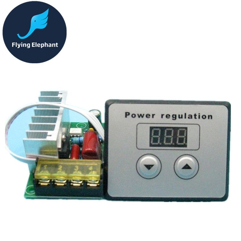 4000w Cnc Thyristor Ultra High Power Electronic Digital Regulator Dimming Speed Control Thermostat Display Power Electronics Power Flying Elephant