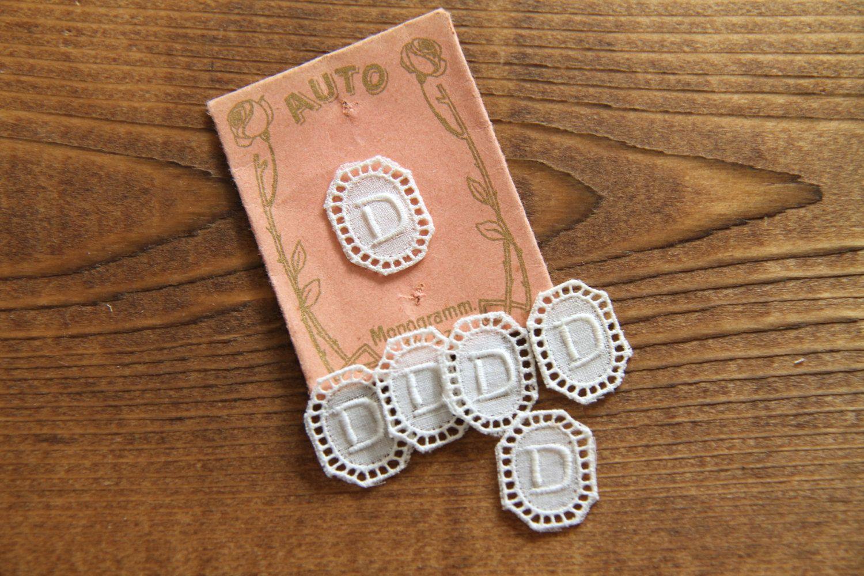 D Letter Sewing Label Monogram Motif Initial Vintage Lace Embroidered Appliquer Diy Supply Wedding Decor Details