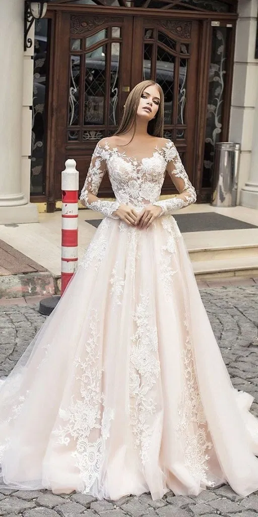 121 Illusion Long Sleeve Wedding Dresses You Ll Like Page 9 Homemytri Com Wedding Dress Sleeves Wedding Dress Long Sleeve Wedding Dresses Lace