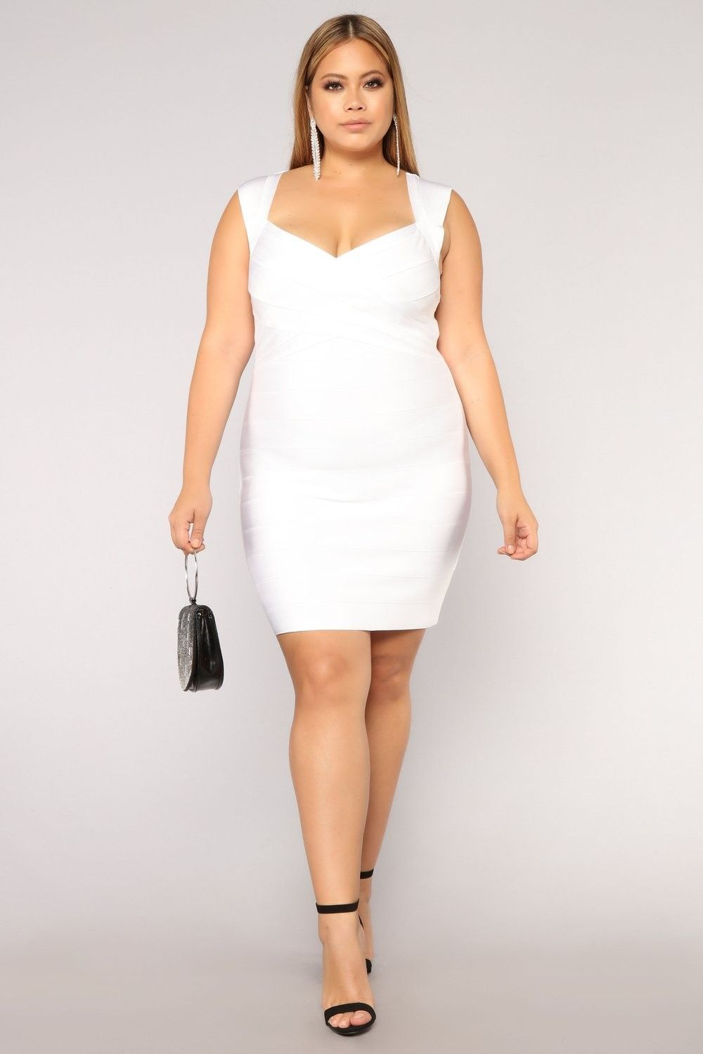 Plus Size Normandy Bandage Dress - White $39.99 #fashion #ootd ...
