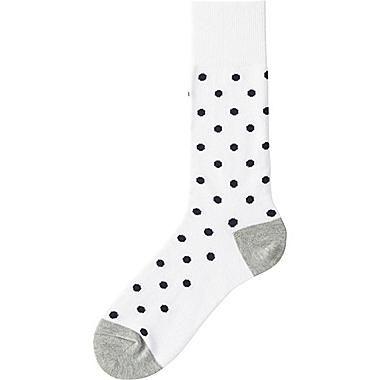 Mens Dot Print Socks, WHITE, medium | Socks designs | Pinterest ...