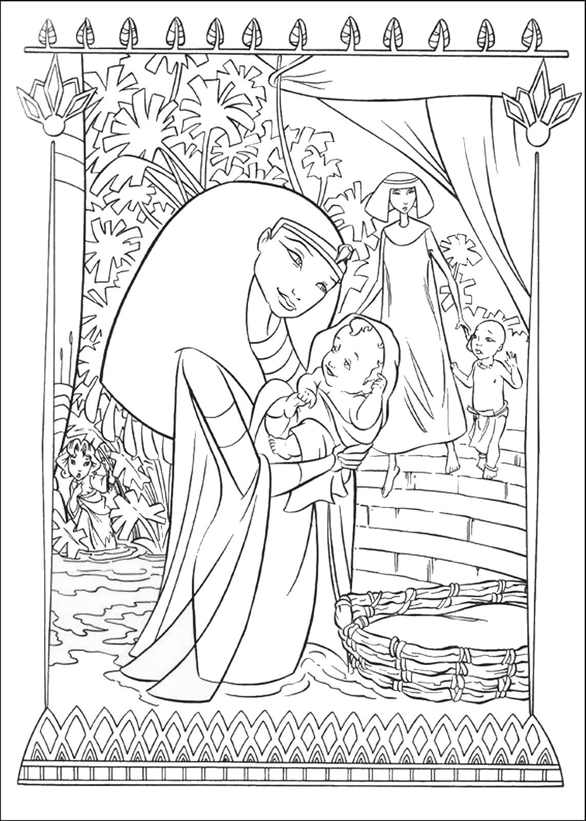 The Prince of Egypt Coloring Pages   HS - History/Geography/Bible ...
