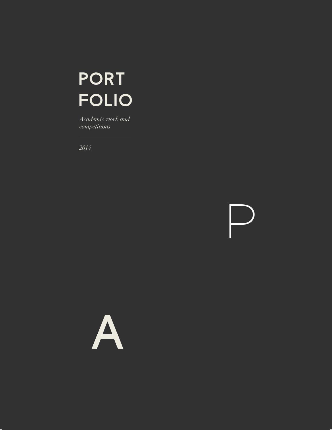 Ana Padrn Portfolio Architecture portfolio Layouts and Architecture