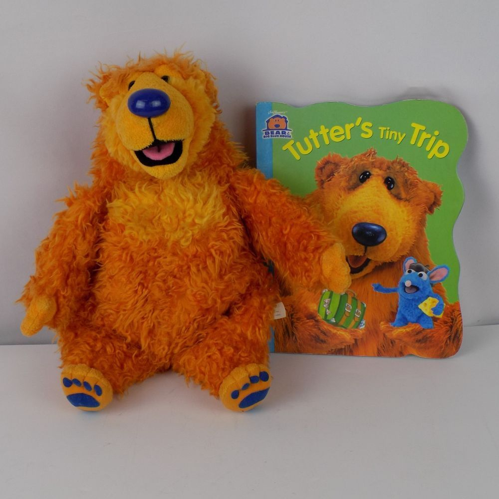 Bear In The Big Blue House Plush And Tutters Tiny Trip Book Lot