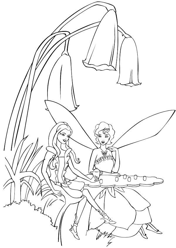 coloring page Barbie FairyTopia | Colour in pages | Pinterest ...