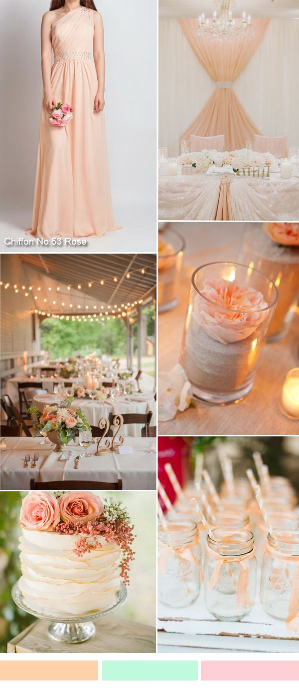 TBQP106 rose rustic wedding ideas and one shoulder rose bridesmaid dress