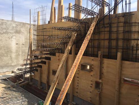 Muros Y Escaleras De Hormig N Armado Visto De Development