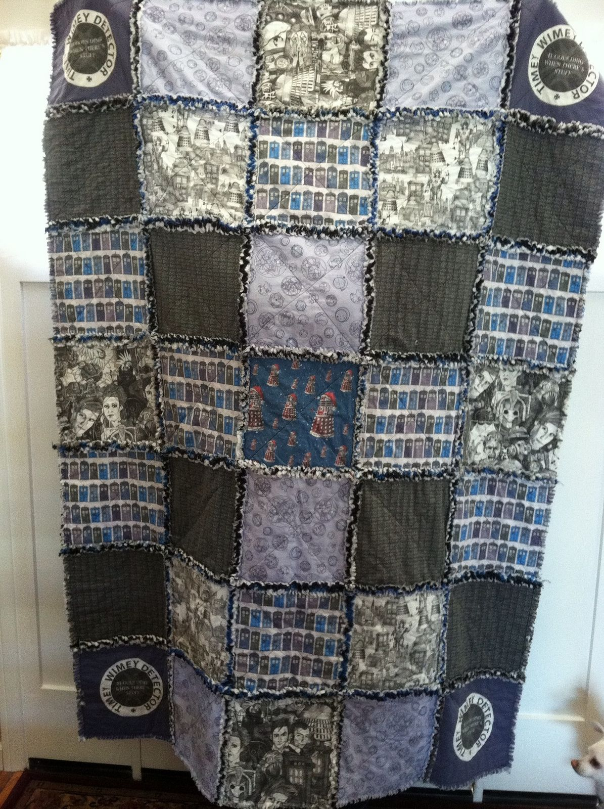Handmade Doctor Who Rag Quilt | Rag quilt : doctor who quilting fabric - Adamdwight.com