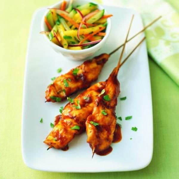Curry BBQ chicken kebobs