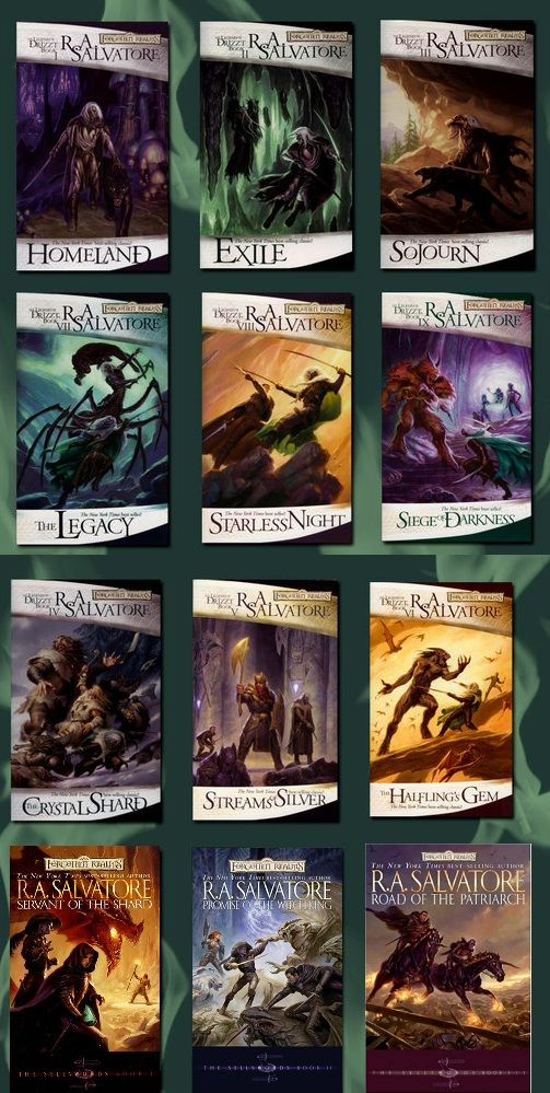 The Legend of Drizzt Series (up to book 9) and the