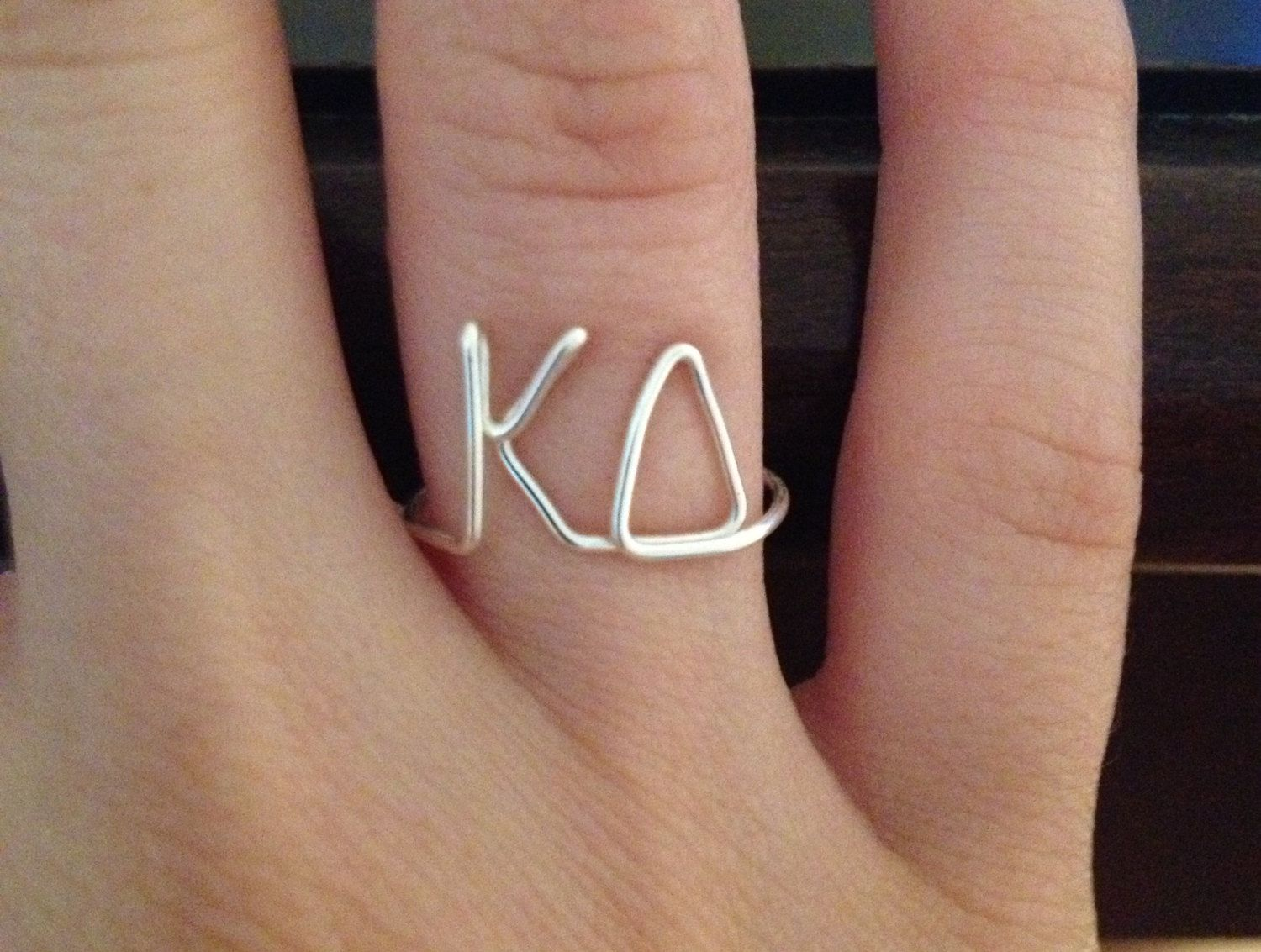 sorority wire ring kappa delta kd greek letters fraternity free shipping 1200 via etsy