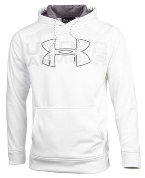 af0d28fb Under Armour Men's Armour Fleece Big Logo Hoodie - White XXL ...