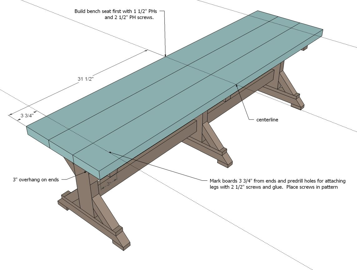 Ana White | Build a Fancy X Farmhouse Bench | Free and Easy DIY ...