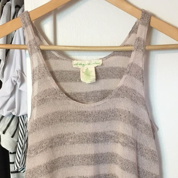 Striped Summer Tank Super cute striped knit tank. Knit material is somewhat see-thru and makes it perfect for a day at the beach! Staring at Stars Tops Tank Tops