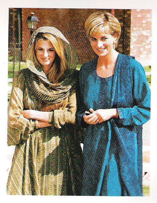Princess Diana and Jemima Khan