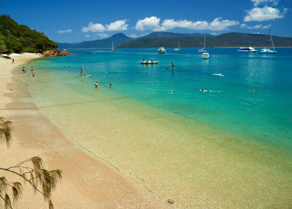 Fitzroy Island Queensland: Welcome Bay At Fitzroy Island, Queensland